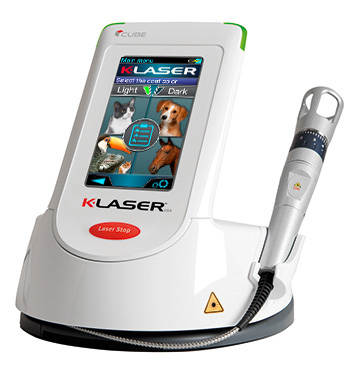 K-Laser Cube 3 model Class IV therapy laser for veterinary practices